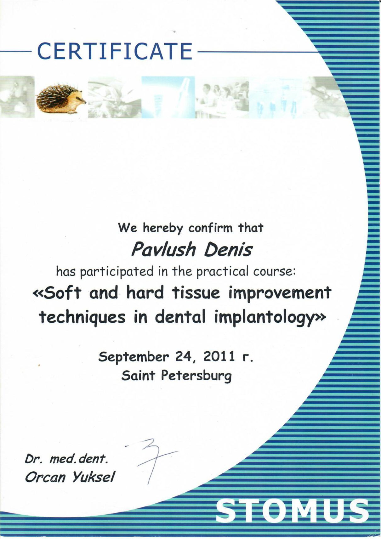 2011 Soft and hard tissue improvement techniques in dental implantology