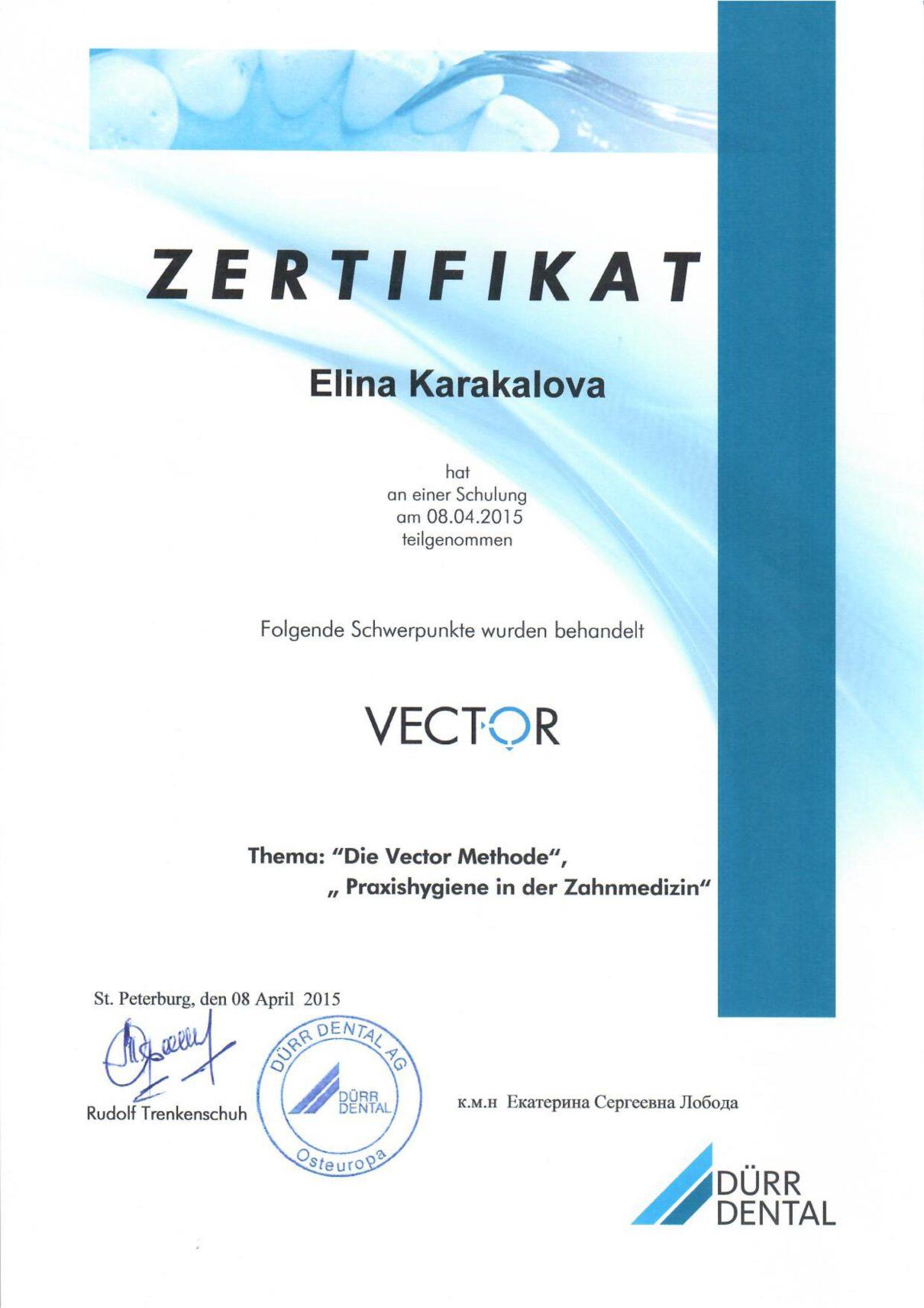 2015 Die Vector Methode, Praxishygienein der Zahnmedizin